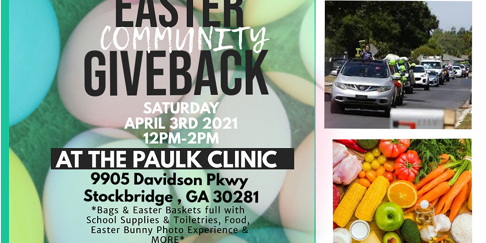 Saperia Dreams Drive-Thru Easter Community Giveback @ The PaulK Clinic