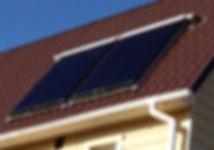 Система автономного отопления и горячей воды, солнечный коллектор двух контурный, альтернативные источники энергии