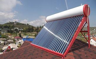 Солнечный коллектор под давление, водонагреватель в Челябинске, горячая вода бесплатно