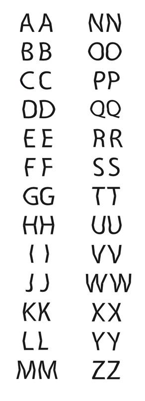 Alphabet capitales