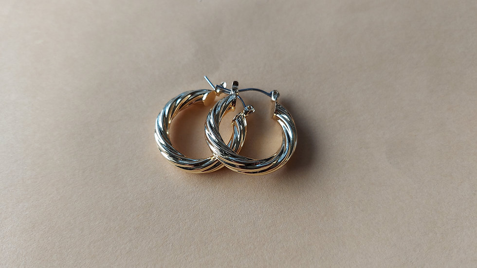"""""""gold"""" hoops"""
