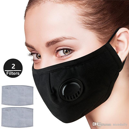 Washable Filtered Face Respiratory Mask