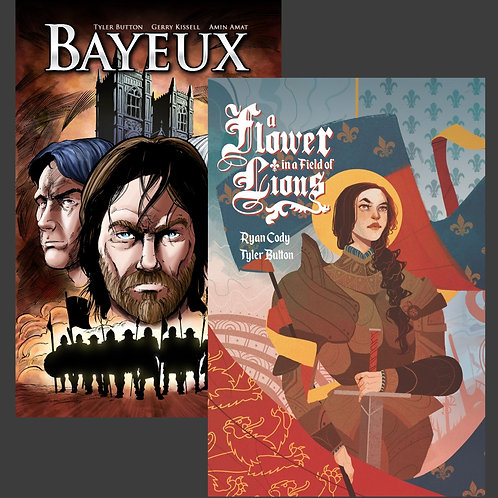 Tapestry Graphic Novel Library (Bayeux AND A Flower in a Field of Lions)