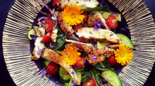 Grilled Chicken Salad With Lemon Garlic and A Herb Rub