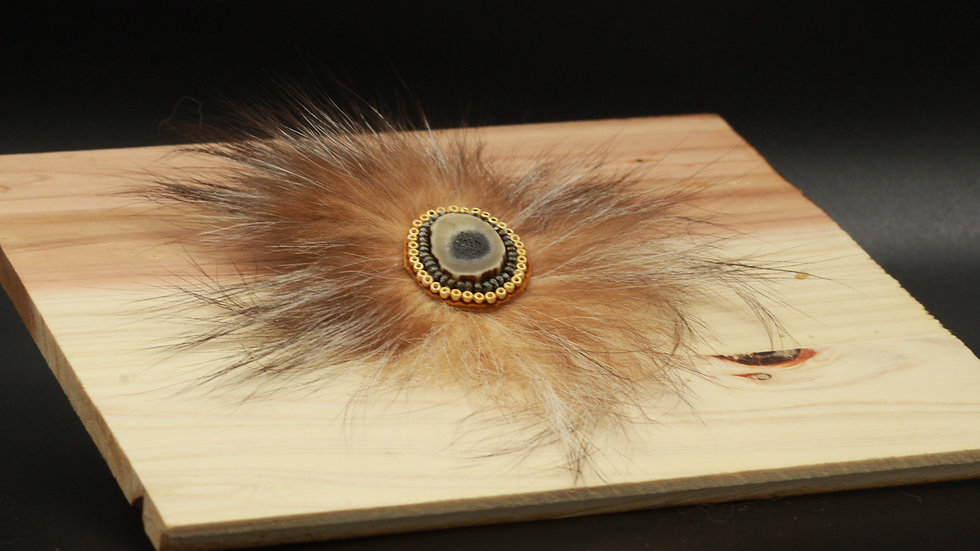 Caribou and Coyote - Hair Barrette