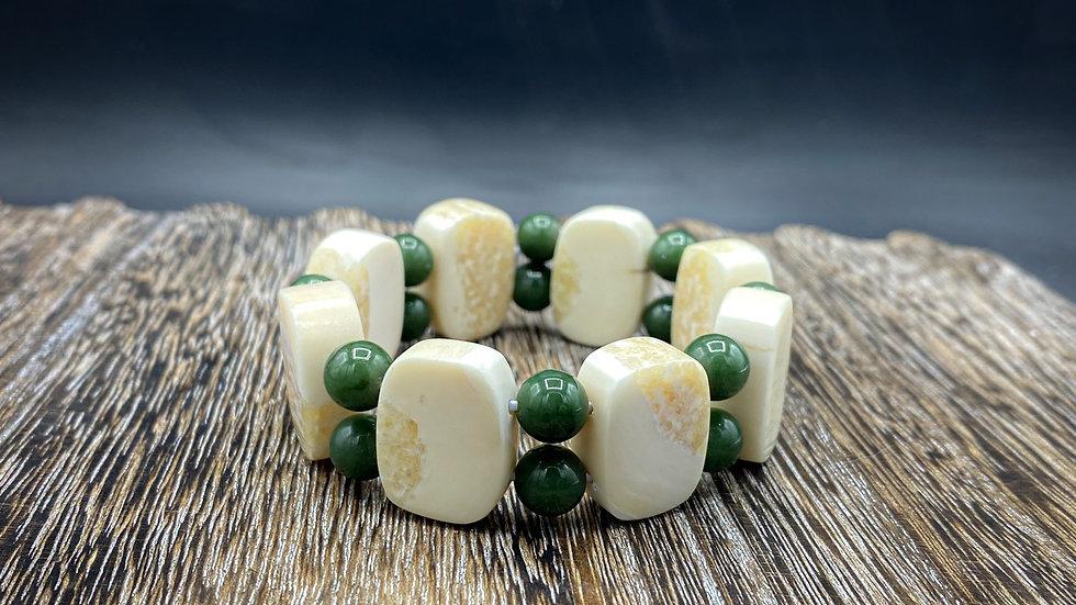 Ivory & Jade bracelet