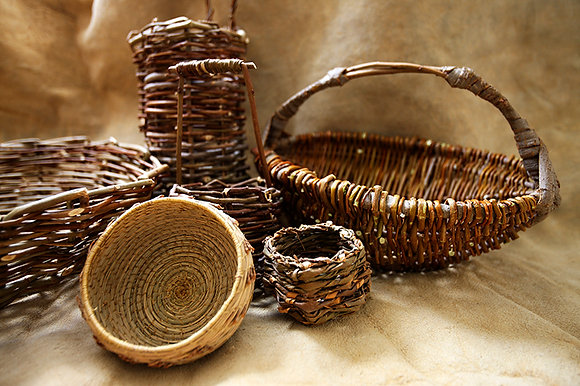 Willow & Cedar Mellon Basket Weaving Class