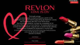 "Revlon ""love is on"" event"