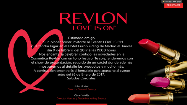 "Revlon ""love is on"" event"