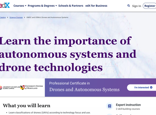 Course on Drones and autonomous systems