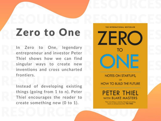 Book recommendation: Zero to One