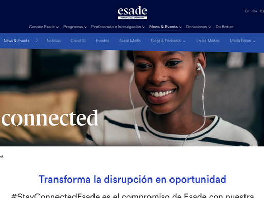 #Stayconnected Esade