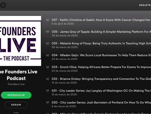 Founders LIVE podcast entrepreneurship stories