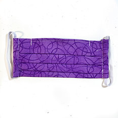 Purple Abstract Pleated Mask