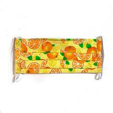 Oranges Pleated Mask