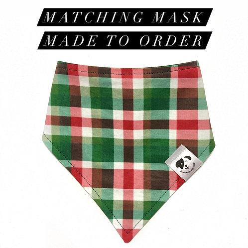 Christmas Plaid Mask