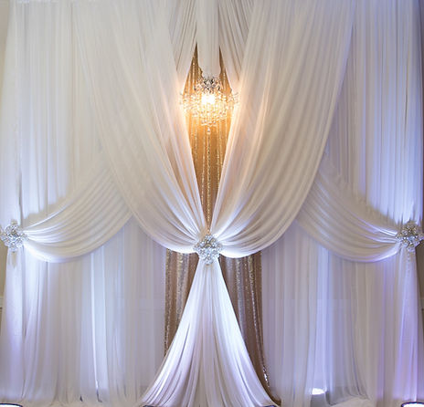 Beautiful backdrop from Pearlsia Decor