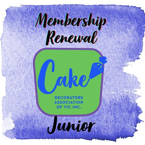 Junior Membership Renewal 2021