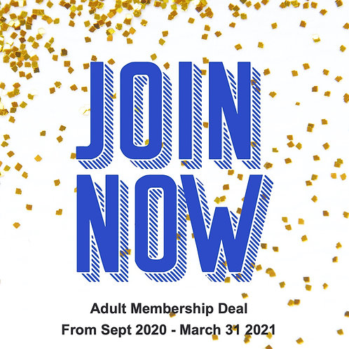 Adult 6 months membership Sept 2020 to 31st March 2021