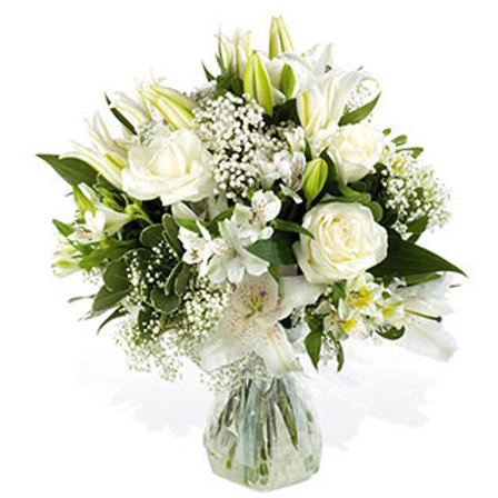 Pure and Simple - Hand Tied Bouquet - Florist Choice