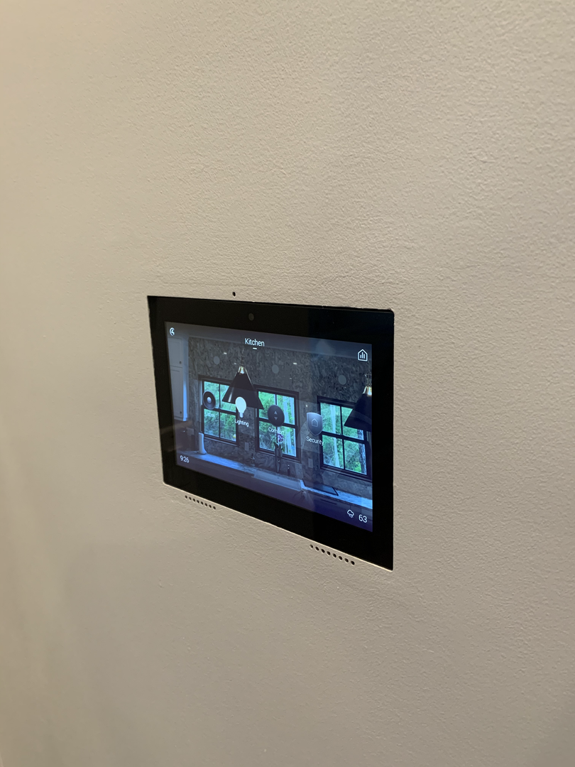 In-wall Control4 pad