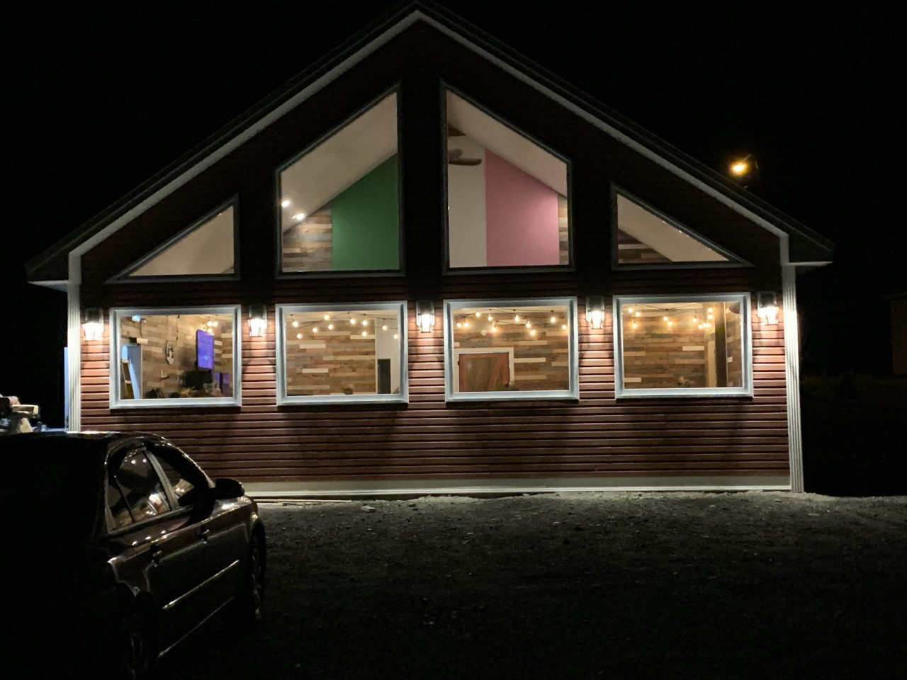 red ochre cafe night time