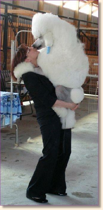 Orma with her show dog