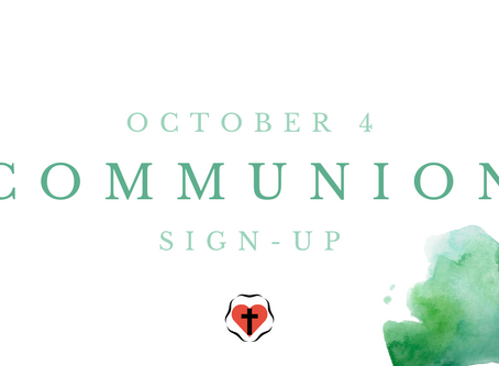 Communion Sign-Up (October 4)