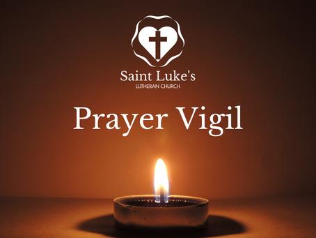 Prayer Vigil - Wednesday, April 1