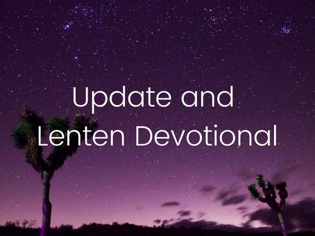 Pastor Josh and Lenten Devotional for All (Update 25 March)
