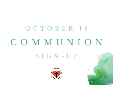 Communion Sign-Up (October 18)
