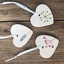 Unique ceramic hearts
