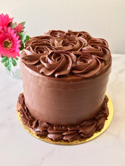 50 shades of chocolate layer cake