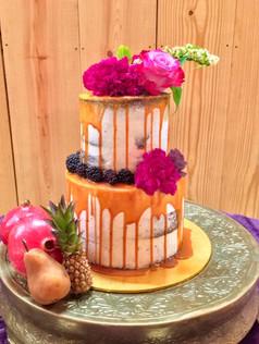 Naked Rustic Wedding Cake