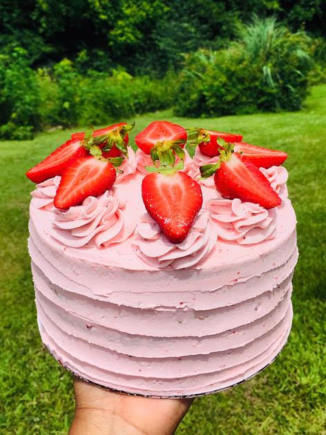 Strawberry Bliss Layer Cake