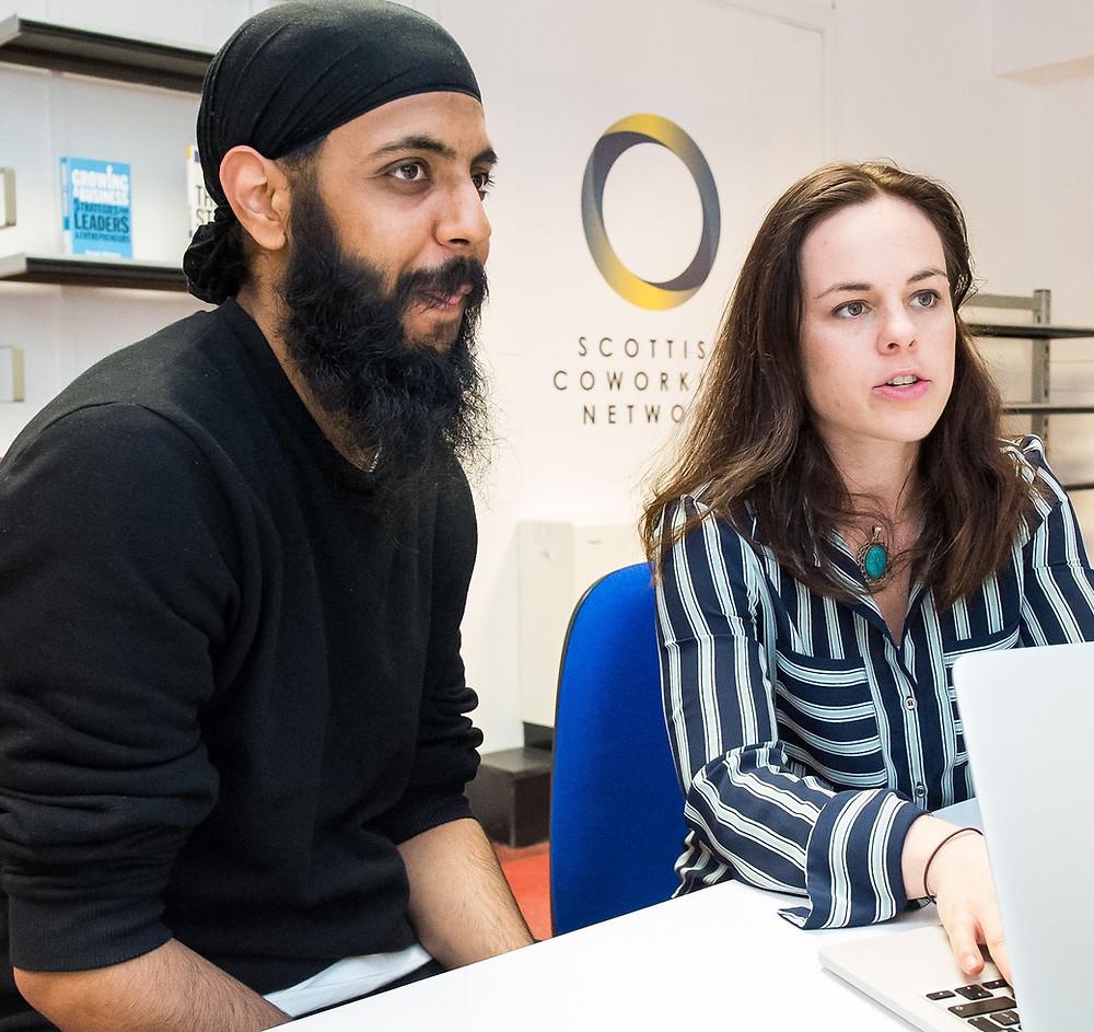 Kate Forbes MSP speaks with SCN Edinburgh hub member Vikram.
