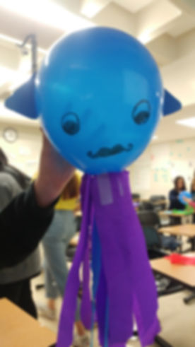 A balloon squid ready to race at Expand Your Horizons 2018