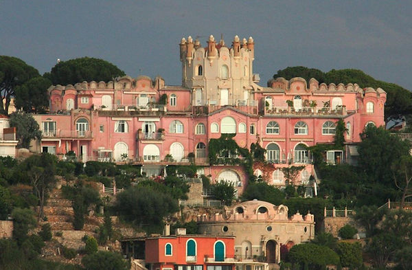 Le château de l'anglais, Nice, 1858