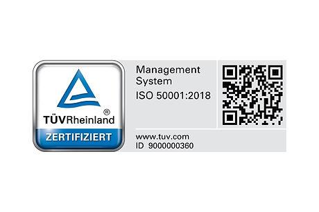 Certification DIN EN ISO 50001