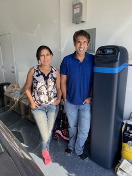 Satisfied Couple with their New Water Softening System