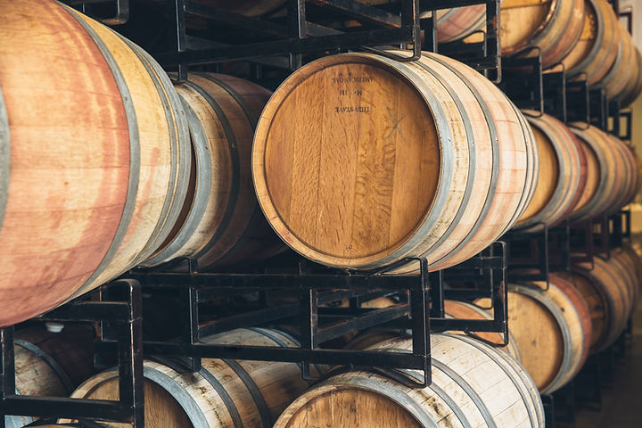 Barrel aged Chardonnay wine in the Finger Lakes