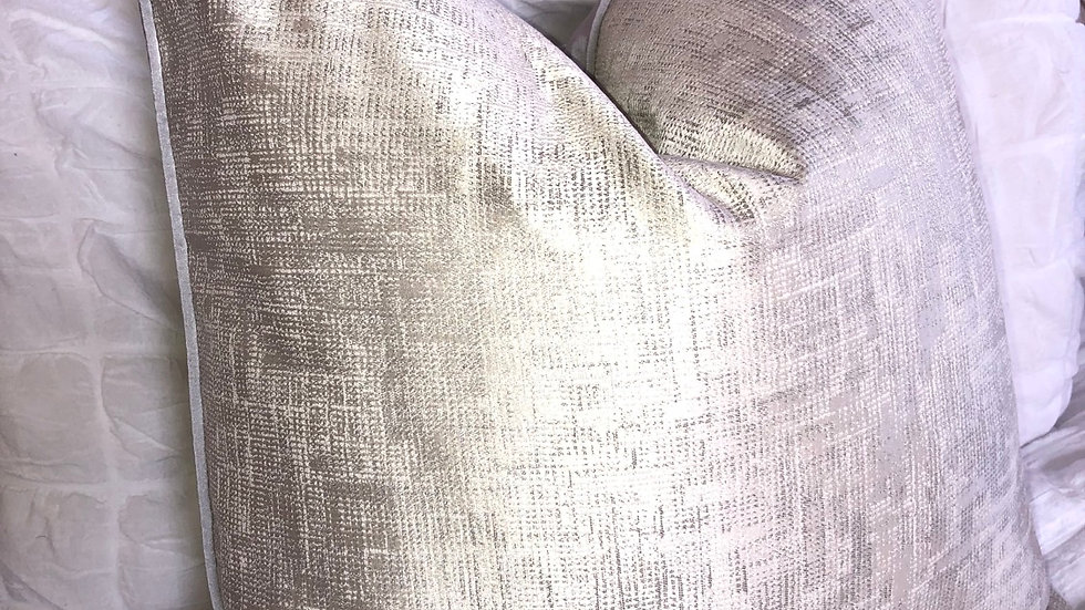 LUXURY DUCK FEATHER SILVER CUSHION