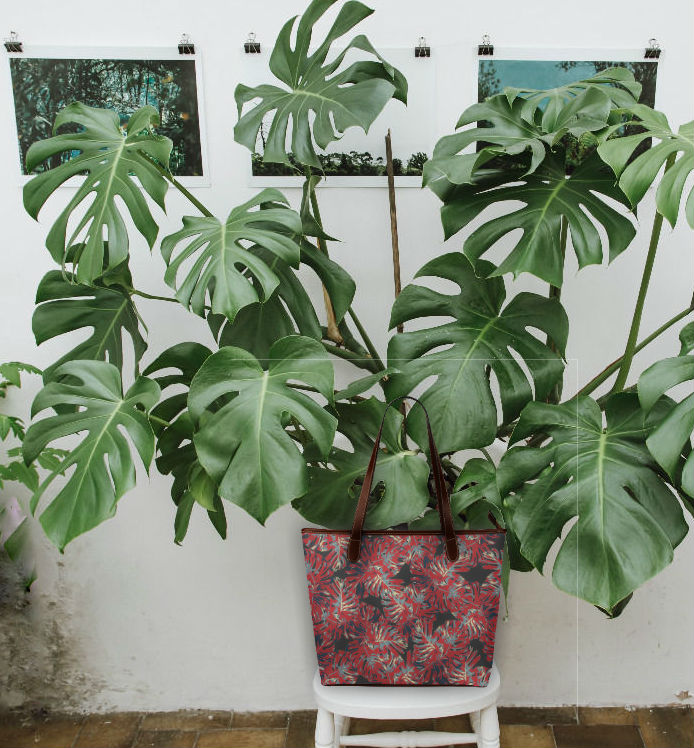 Cheese plant and shoulder bag
