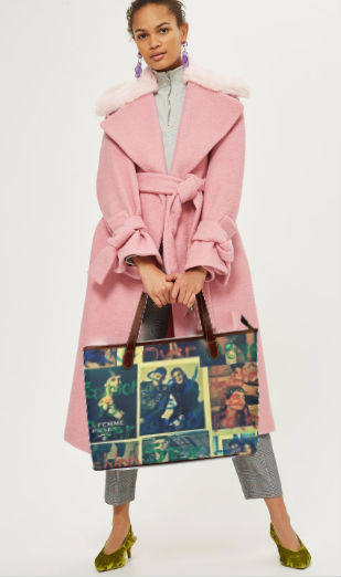 woman holding a bag