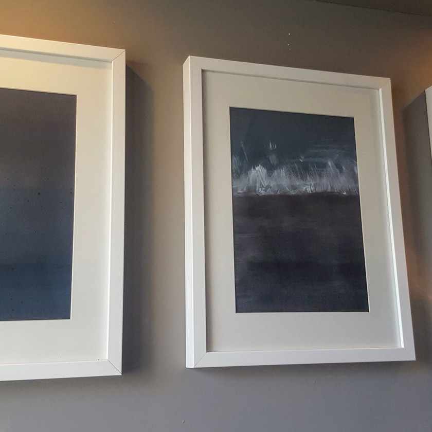 Triptych of abstract paintings