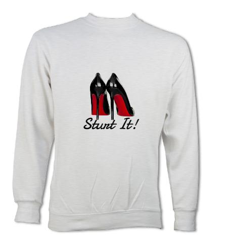 sweatshirt with stilettos on it