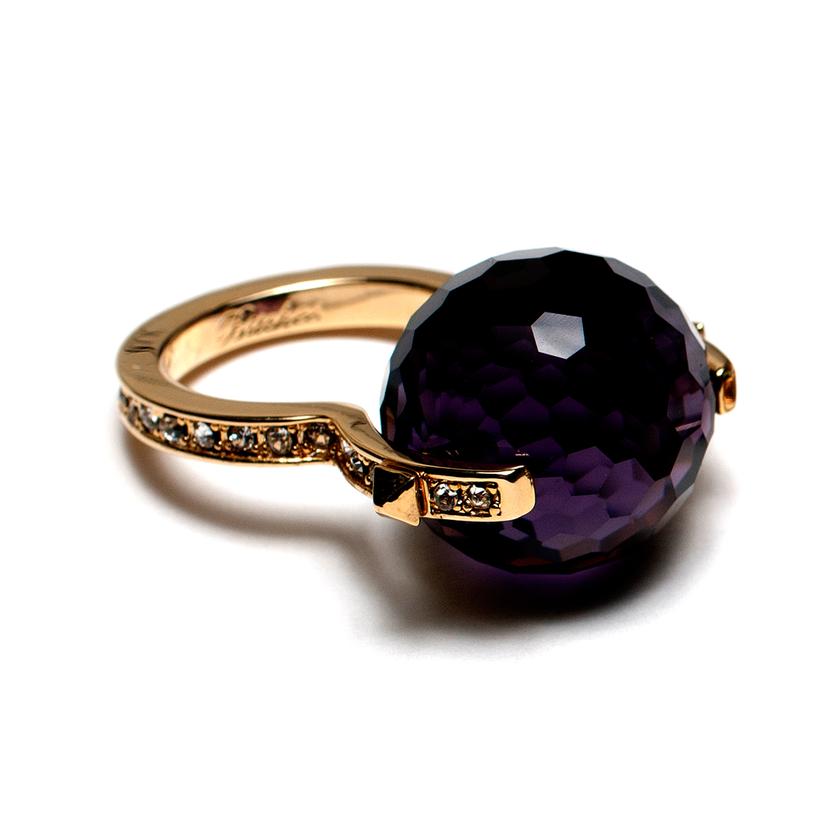 large black crystal ring