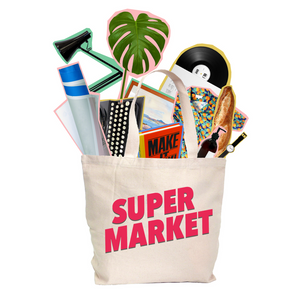 Shopping bag full of products