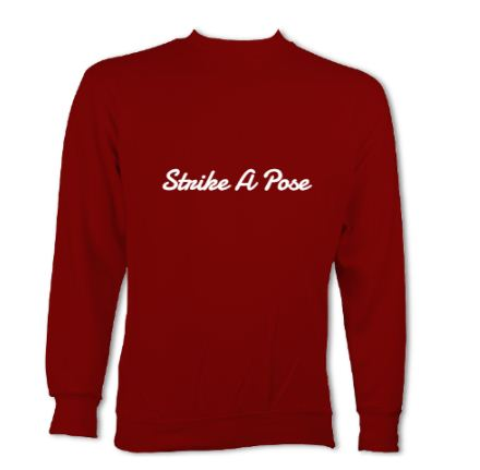 "Red Sweatshirt ""Strike A Pose"""