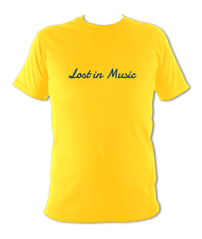 "Yellow T-shirt ""Lost in music"""